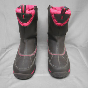 Lands End brown pink winter boots girl's size 7